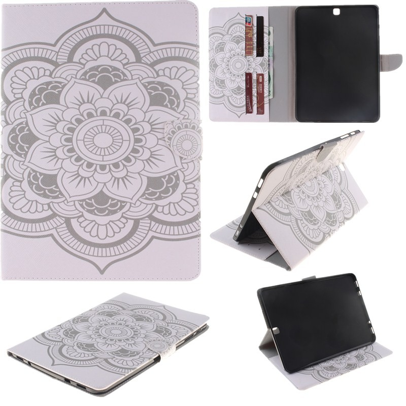 2 Sides Painted Tablet Case For Samsung Galaxy Tab S2 9.7\'\' T815SM -T810 Case Wallet Flip PU Leather Cover for Clever Gilrs Boy (79)