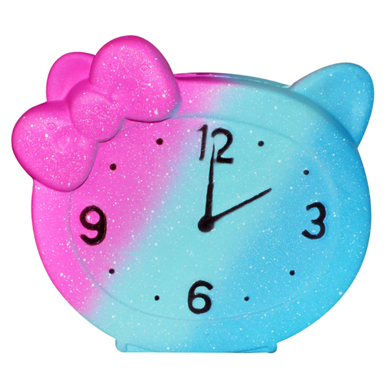 New Colorful Galaxy Clock Creative Simulation Soft Squeeze Toy Bread Cake Scented Slow Rising Stress Relief For Kid Xmas Gift