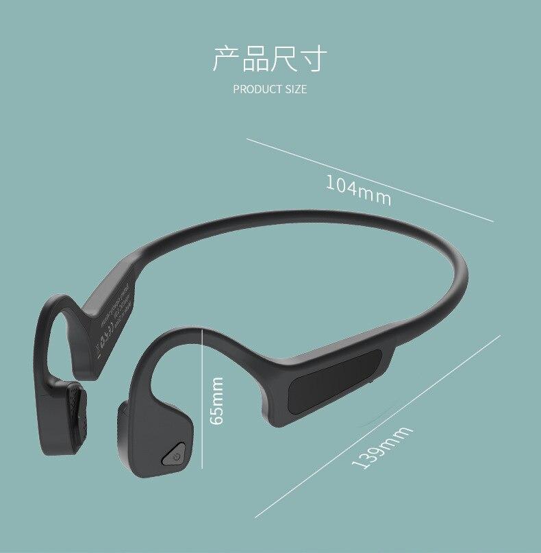 Gym Headset Oordopje Beengeleiding Oortelefoon Voor Xiaomi Huawei Auto Draver iPhone Samsung Oordopjes Bluetooth Draadloze Hoofdtelefoon Mannen - 4