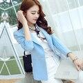 2017 Women Jacket Fashion Women Slim Blazer Coat Casual Jacket Sleeve One Button Suit Outerwear blazer feminino
