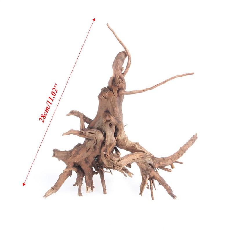 Wood Natural Trunk Driftwood Tree Aquarium Fish Tank Plant Stump Ornament Decor