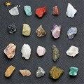 Sunligoo 20x mini pedra mineral natural pedra caída chakra kit de equilíbrio de cura para colecionadores reiki curandeiros yoga practioner