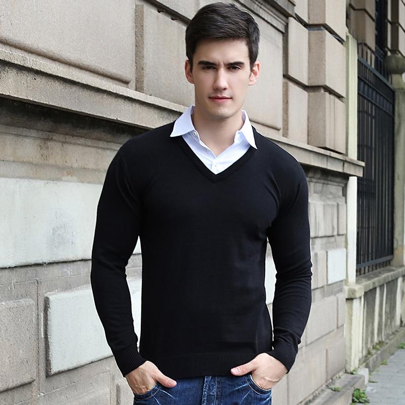 Turn down Collar Hot sale Sweaters Spring Merino Mens Designer ...