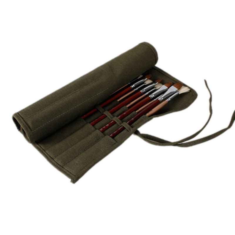 Сумка для кистей художника Акварельная ручка для рисования масляная краска рулонные холщовые чехлы Чехол-держатель