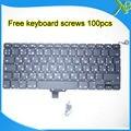 """A Estrenar Para MacBook Pro 13.3 """"A1278 teclado RU Ruso teclado + 100 unids tornillos 2008-2012 Años"""