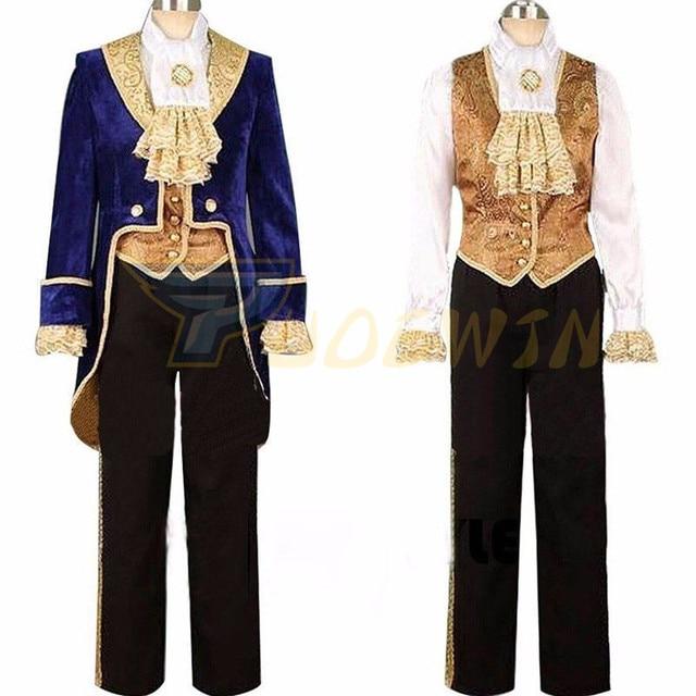 Halloween Party Kleding.Schoonheid En Het Beest Cosplay Volwassen Kostuums Prins Adam Kleding Mannen Halloween Party Suits