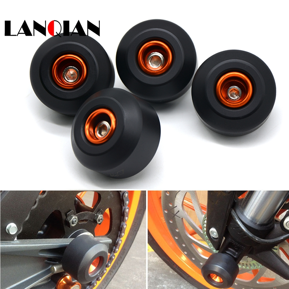 NEW Motorcycle parts Front Rear Crash Pad WheeL Frame Sliders for KTM DUKE125 DUKE 200 DUKE390 duke 125 200 390 2013 2014 2015