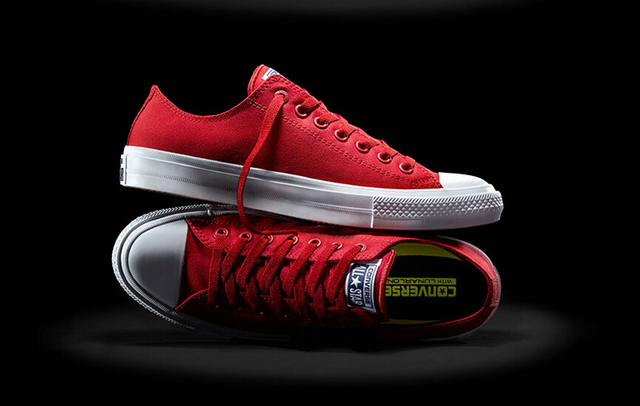 New Converse Chuck Taylor Ii All Star Shoes Uni High Sneakers Canvas Blue Black Color Skateboarding