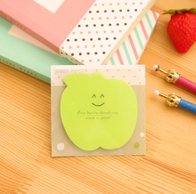 Fluorescent Green Apple Memo Pad Sticky Notes Memo Notepad Bookmark Paper Sticker Notes Papelaria Stationery School Supplies