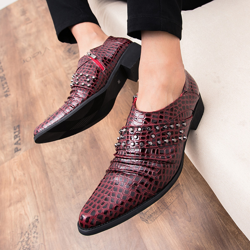 De Primavera Couro Mexemina Britânico Sapatos Pequenos Homens Juventude Nova 38 red Terno Outono Tamanho Zapatos Mujer Preto Lazer Dos 44 Preto 5xWYx8