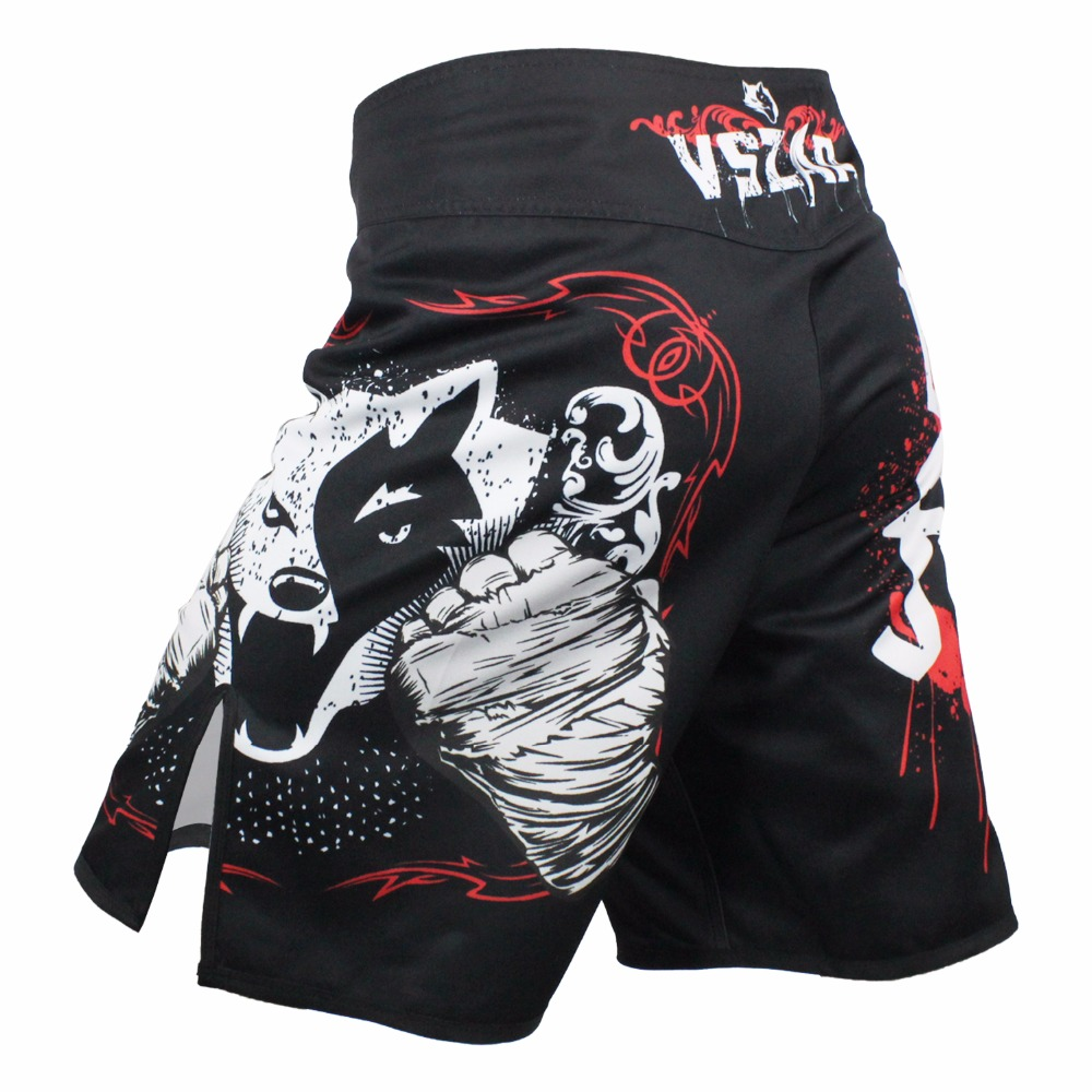 Mannen Muay Thai Boxing Shorts Afdrukken MMA Shorts Vechten Grappling Korte Polyester Kick Gel Thai Boxing Shorts MMA Boxe