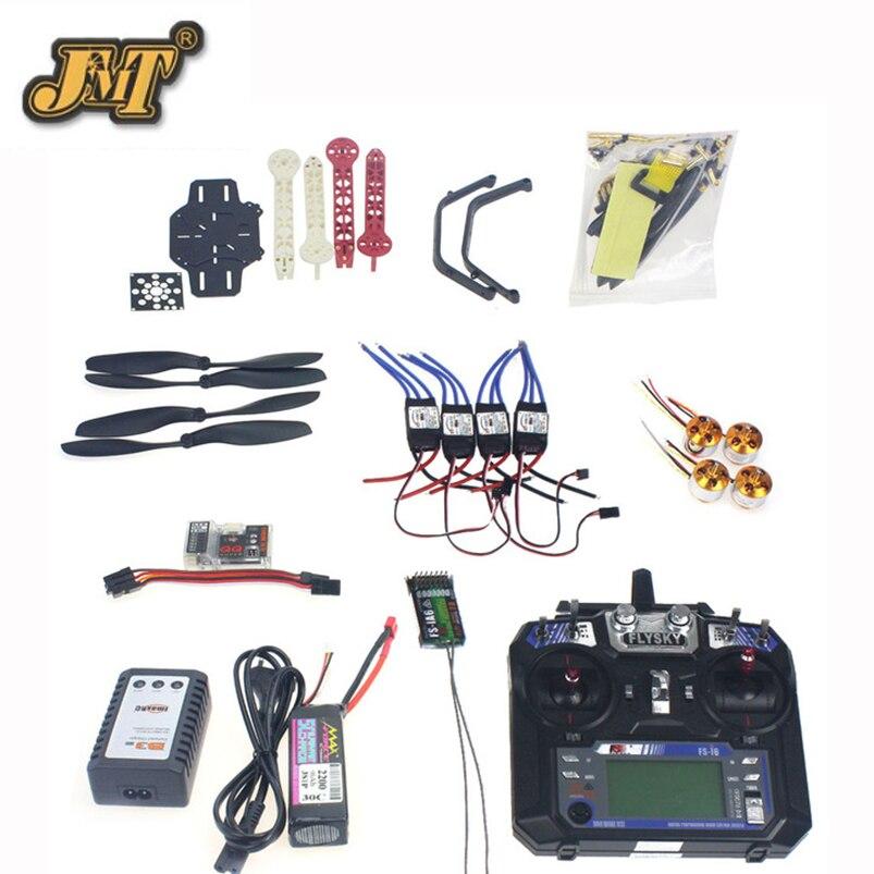 JMT Full Set RC Drone Quadrocopter 4-axis Aircraft Kit F330 MultiCopter Frame QQ Super Flight Control Flysky FS-i6 Transmitter цена