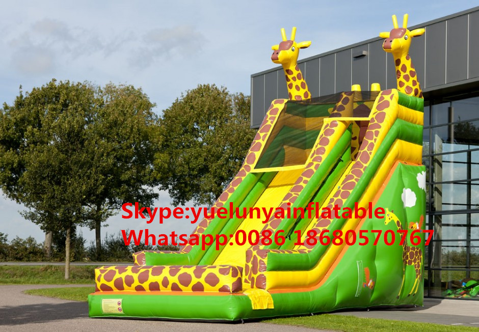 (China Guangzhou) Manufacturers Selling Inflatable Slides,Giraffe Slide, KY-663