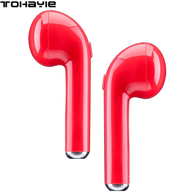 ToHayie I7 TWS Ture Wireless Bluetooth Earphone Headset Mini Earbud With Microphone Auriculares Bluetooth Ear Bud fone de ouvido showkoo stereo headset bluetooth wireless headphones with microphone fone de ouvido sport earphone for women girls auriculares