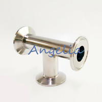 4 Stainless Steel 304 OD 119mm Tri Clamp Sanitary Tee 3 way pipe fitting