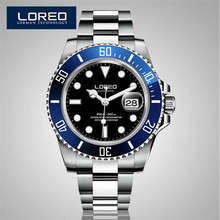 High Quality LOREO Men Watches Top Brand Luxury Sapphire Waterproof Watches Men Automatic Mechanical Wrist Watches AB2031