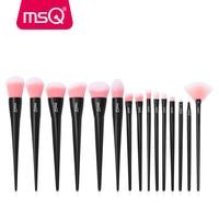 MSQ 15pcs Professional Makeup Brushes Set Foundation Eye Liner Blusher Make Up Brushes Kit High Quality