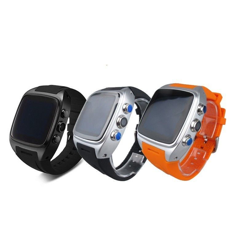 X01 smart watch MTK 6572 Dual core 1.54 screen 512MB Ram 4GB Rom sim card Android 5.1 Bluetooth 3G WIFI Camera GPS PK ZGPAX S8