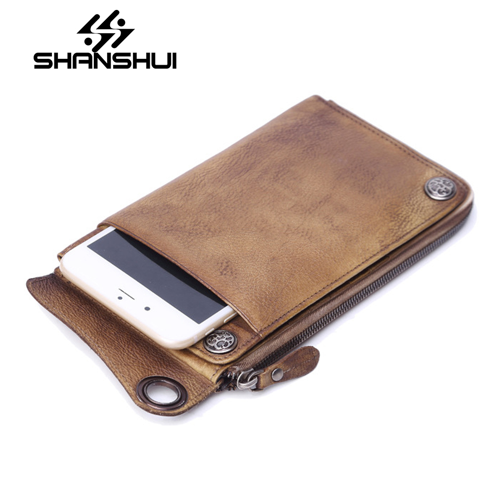 New Luxury Brand 100% Top Genuine Cowhide Leather High Quality Men Long Wallet Coin Purse Vintage Designer Male Carteira Wallets high quality men genuine leather organizer wallet vintage cowhide clasp card holder coin purse vintage carteira masculina 1011