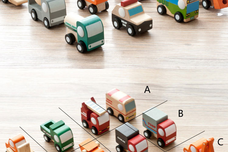 12pcslot Wooden Car Educational Toys Baby Kids Boy Toys Wheel Rotatable Cars Models Toys Simulate Mini Automobiles for Children (10)