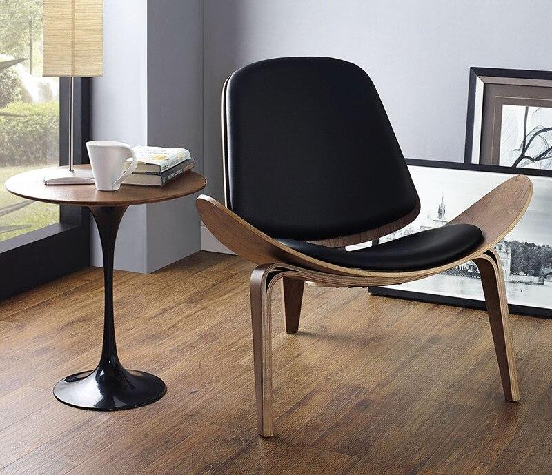 US $520.0 |Design Moderno e minimalista salotto in legno sedia Soggiorno  Design Moderno Per Il Tempo Libero Lounge Chair pad Legno naturale noce di  ...