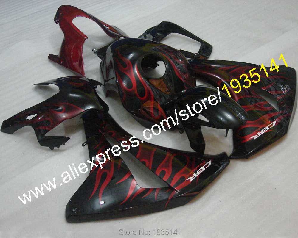 Hot Sales,Red Flame kit For Honda CBR 1000RR 2008 -2011 CBR1000 RR 08-11 motorcycle body work fairing (Injection molding)