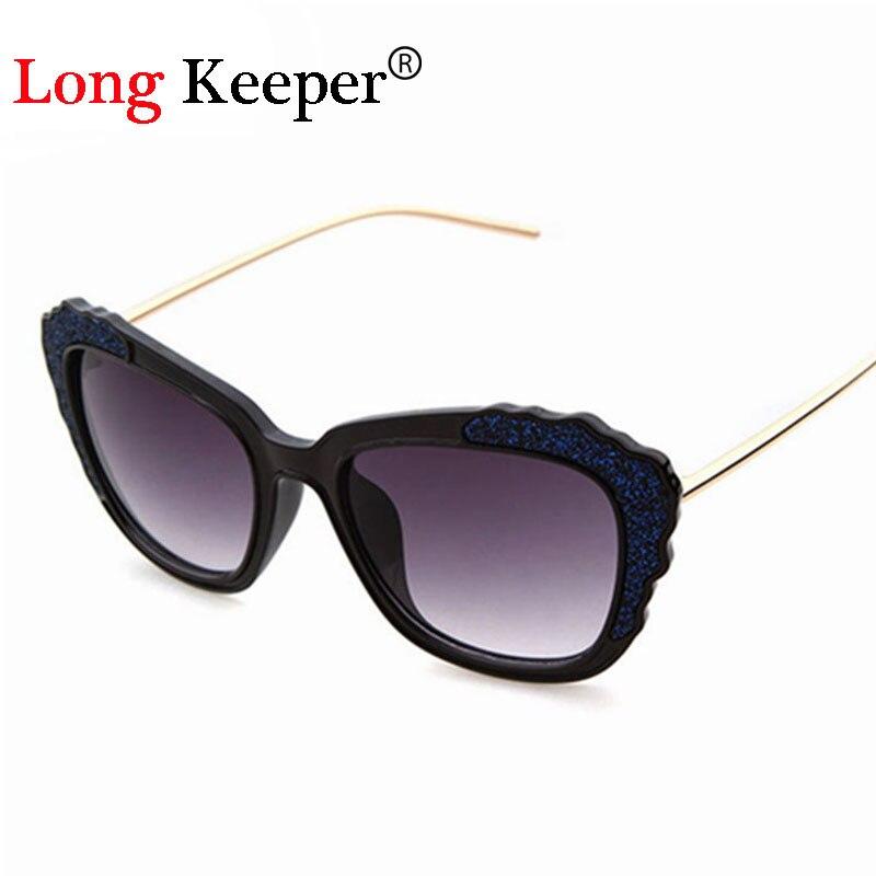 Long Keeper 2017 nuevas mujeres Gafas de sol diseñador Gafas flash  brillante escudo Marcos eyewares gafas de sol feminino 8049 ffec4cf68f
