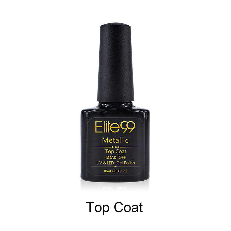 Elite99 10 مللي لامع معطف فوقي مانيكير نقع قبالة UV LED معطف فوقي هلام ورنيش المهنية طويلة الأمد أعلى جيل للأظافر البولندية