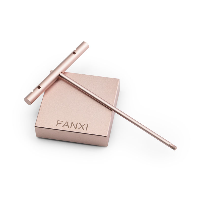 Fanxi Rose gold Black T shape Earrings Display Stand with Metal Alloy for Ear Nails Holder Earrings Jewelry Organizer Showcase in Jewelry Packaging Display from Jewelry Accessories