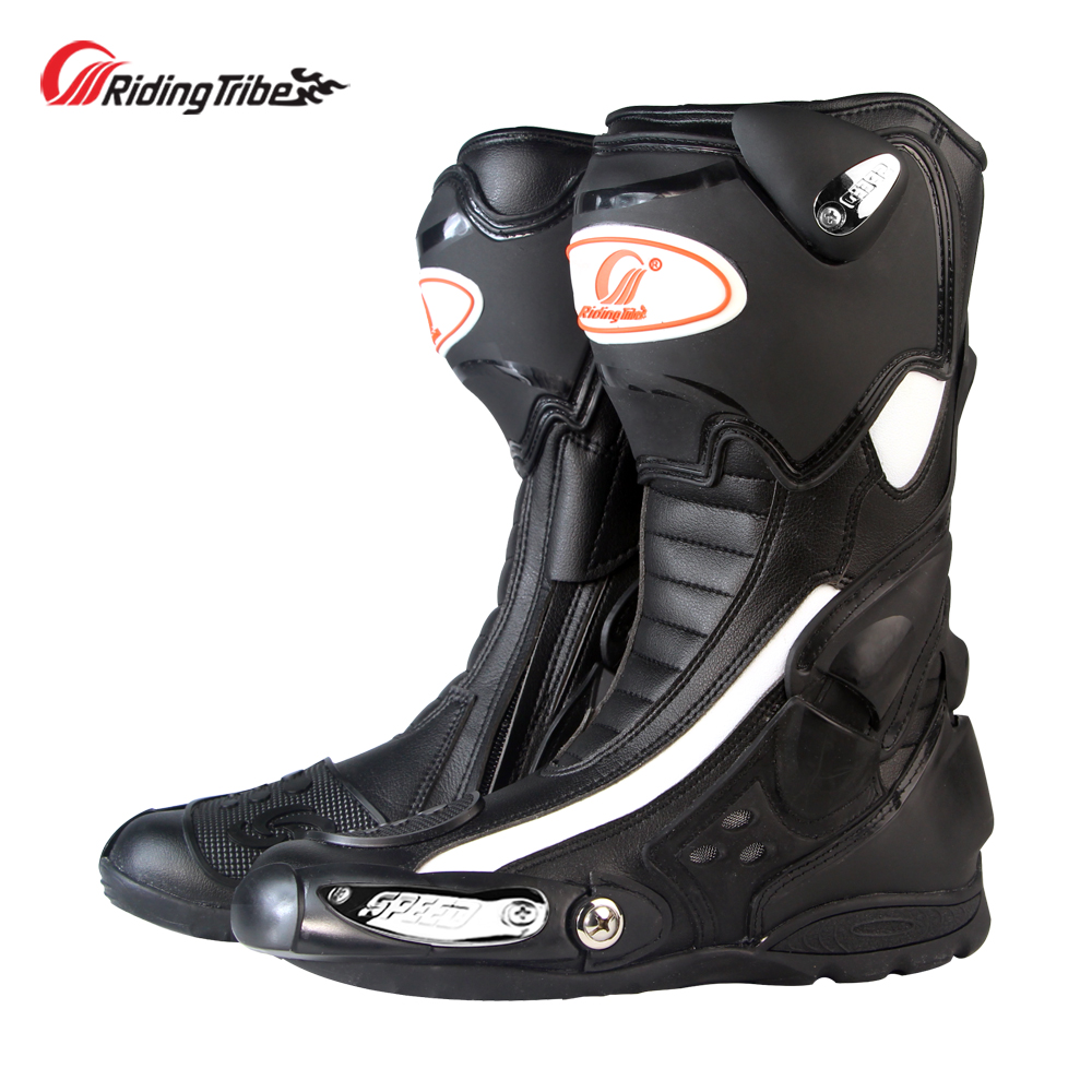 Riding Tribe Motorcycle Protective Boots Anti-skid Motocross Anticollision Motorbike Long Ankle Riding Shoes Four Season B1002 ...