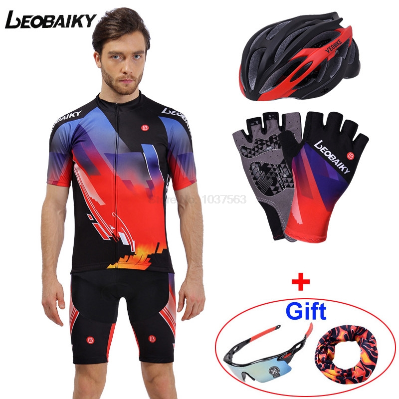 LEOBAIKY 2017 Cycling Jersey Summer Team Short Sleeves Cycling Set Bike Clothing Ropa Ciclismo Cycling Clothing Sports Suit Men 2017 new pro team cycling jersey set bike clothing ropa ciclismo breathable short sleeve 100%polyester cycling clothing for mtb