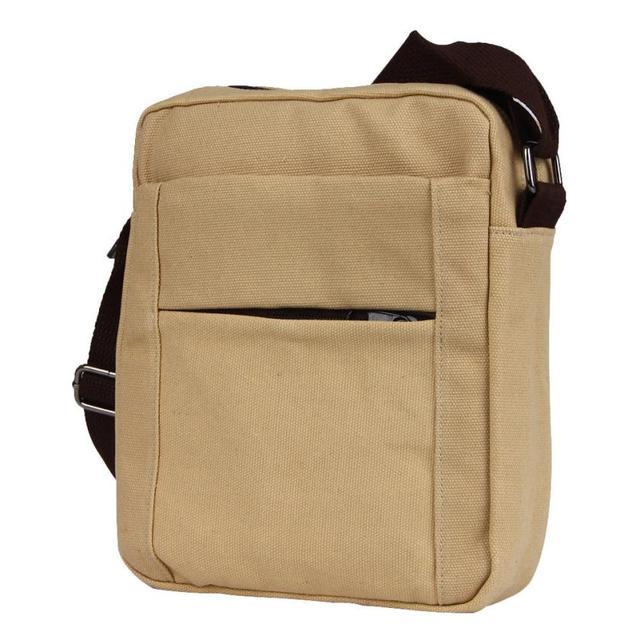 Men S Shoulder Bag Handbag Solid Canvas Cross Body Messenger Small Purse Drop