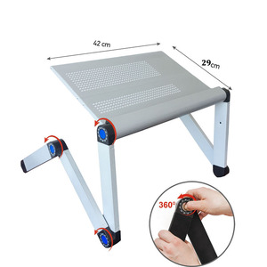 Image 4 - Adjustable Portable Laptop Table Stand Lap Sofa Bed Tray Computer Notebook Desk bed table with Mouse Table ZW CD06