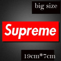 Free shipping 2016 new style  PVC sticker waterproof UV proof street brand,big size supreme sticker 19cm*7cm red GLINGIRD