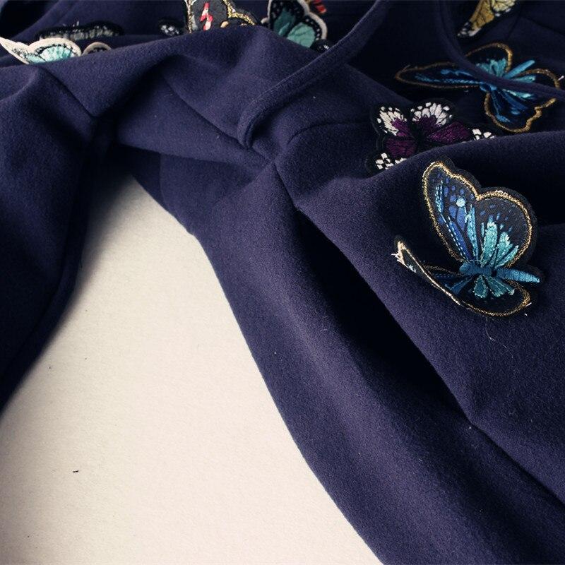 2019 primavera novo estilo literatura vestido longo dança dança voando borboleta handmade retro Magro vestido de lã wj343 frete grátis - 6