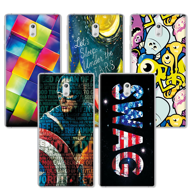 Silicone Cover For Nokia 3 Case Cover Coque Lovely Art Painted Cute Soft TPU Coque For Nokia 3 Cover 5.0 Inches Mobile Phone Bag