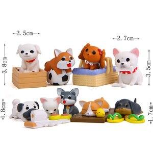 Image 5 - Minifigura de perro Artificial para decoración, ornamento miniatura para el hogar, escritorio, accesorio para decoración DIY