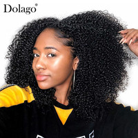 3B 3C Kinky Curly Clip In Human Hair Extensions Full Head Sets 100% Human Natural Hair Clip Ins 4A Dolago Brazilian Remy Hair