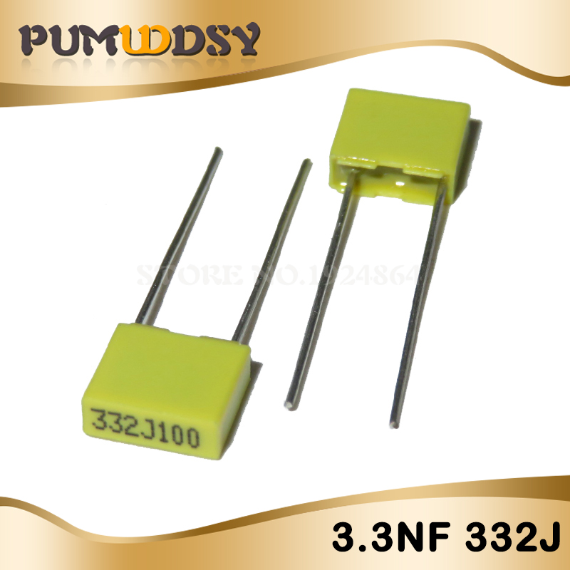 20PCS Correction Capacitor 3.3NF 332J 100V 5mm Polypropylene Safety Plastic Film Capacitor New Original Free Shipping