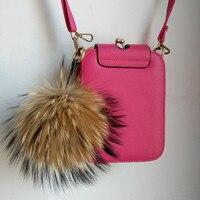 Sang trọng Llavero 15 cm Fluffy Móc Khóa Lông Bóng Keyring Fur PomPom Key Chain cho Phụ Nữ Quyến Rũ Shoulder Túi Xe Pendant phụ kiện