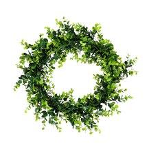HOYVJOY  Garland Decoration Christmas Eucalyptus Leaf Wreath Spring