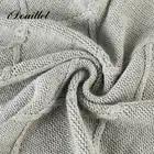 IDouillet 100% хлопок кабель вязать бросок Одеяло для Диван Декоративные трикотажные постельные принадлежности негабаритных 50 х 70 серый /светло ... - 6