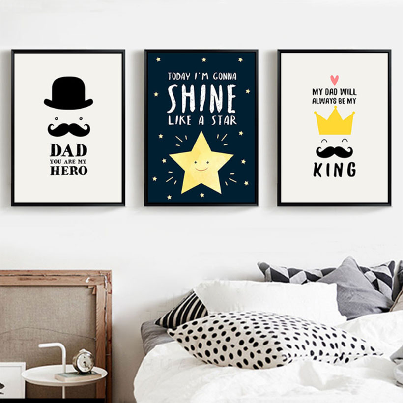 Cartoon Stars Prints And Posters Baby Boys Bedroom Paintings Quotes