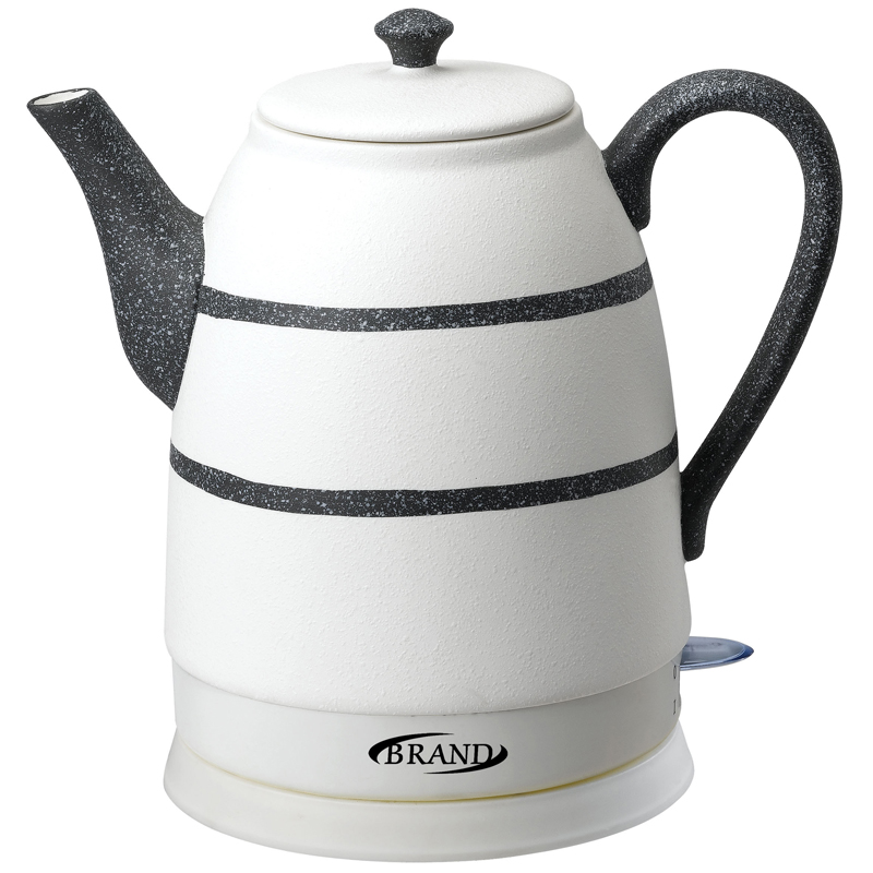 BRAND403B Electric Ceramic Kettle 1.6L 1500W teapot anti-dry protect overheat protect safety auto-Off function 2years warranty