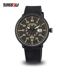 Time2U Mens Sport Flight Dial Casual Wristwatch Quartz Watch