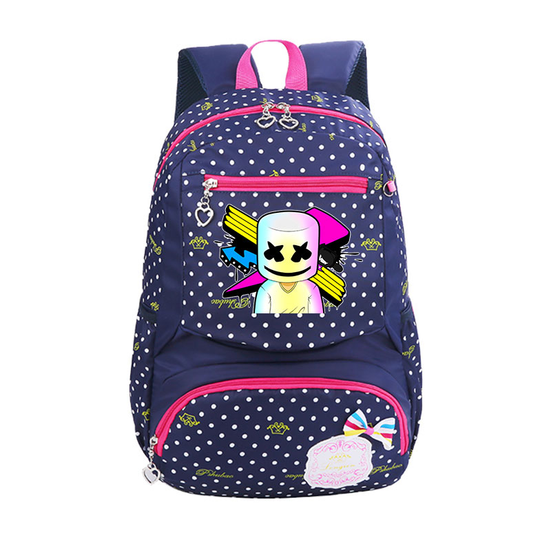 Anime Marshmello Backpack light wave point Prevails School Backpack for Teenage Girls Boys School Bags Travel Daypack cartoon melanie martinez crybaby backpack for teenage girls school bags backpack women casual daypack ladies travel bags
