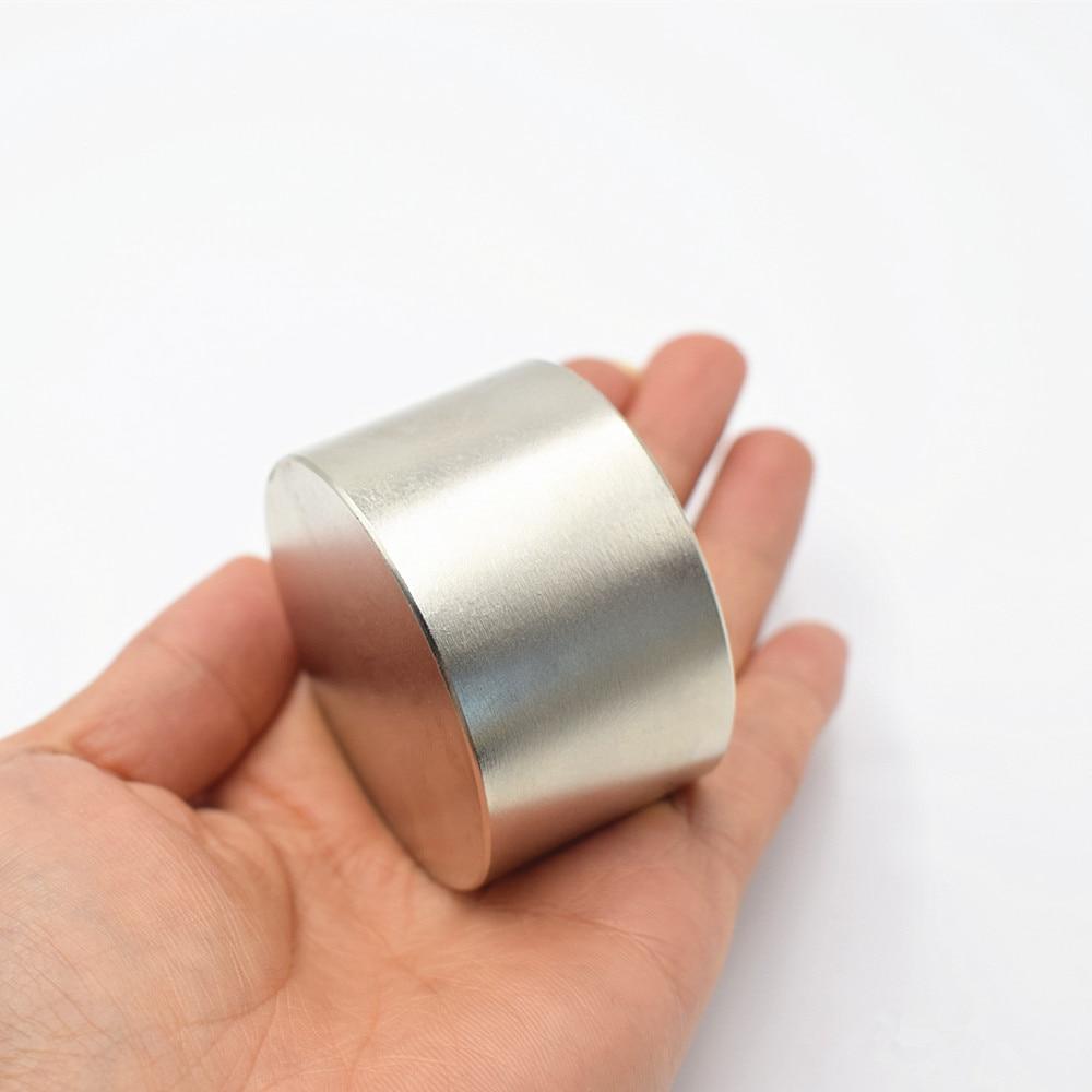 2 pz magnete Al Neodimio 50x30mm Super strong rotonda magnet Rare Earth NdFeb N35 50*30mm più forte potente magnetico permanente