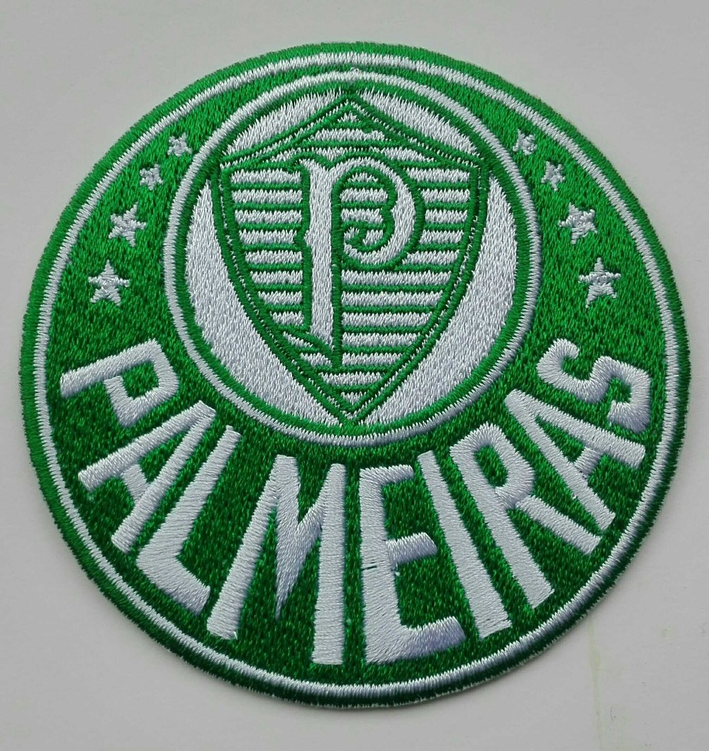 Us 8 99 2pcs Lot Football Soccer Fussball Club Team Palmeiras Logo Iron On Patch Aufnaeher Applique Buegelbild Embroidered Brazil In Patches From