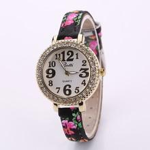 Fashion Diamond Gold Women's Quartz Watches Round Dial Leather Lady Dress Wristwatches Relogio Feminino Clock reloj mujer P20