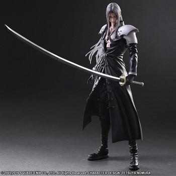 Final Fantasy Action Figure Paly Arts Kai Final Fantasy VII 7 Sephiroth PVC Figure 250MM Playarts Kai Collectible Model Toy